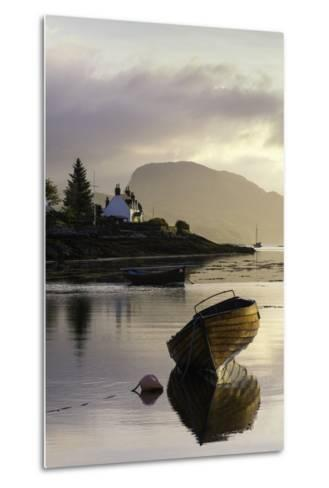 Dawn View of Plockton and Loch Carron Near the Kyle of Lochalsh in the Scottish Highlands-John Woodworth-Metal Print