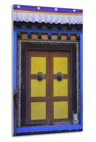 Door at the Buddhist Monastery in Tengboche in the Khumbu Region of Nepal, Asia-John Woodworth-Metal Print