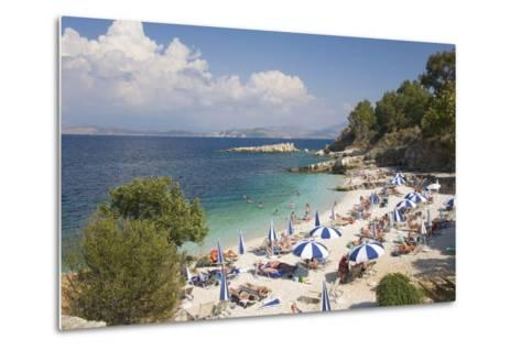Beach Crowded with Holidaymakers, Kassiopi, Corfu, Ionian Islands, Greek Islands, Greece, Europe-Ruth Tomlinson-Metal Print