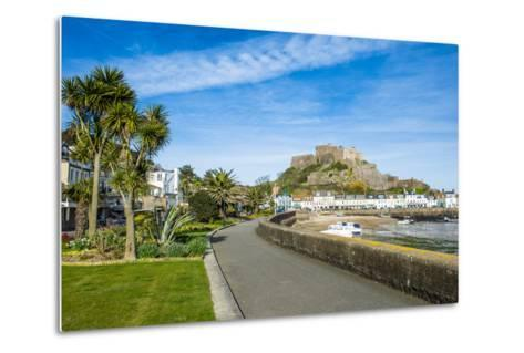 The Town of Mont Orgueil and its Castle, Jersey, Channel Islands, United Kingdom-Michael Runkel-Metal Print