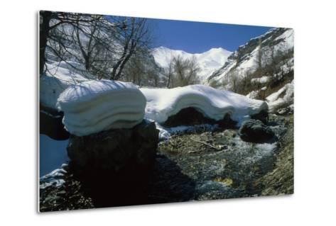 Melting Snow at the End of Winter in the Alborz Mountains Near Tehran, Iran-Babak Tafreshi-Metal Print