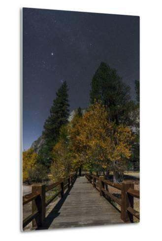 Planet Jupiter, in Constellation Taurus, Above a Footbridge over the Merced River-Babak Tafreshi-Metal Print