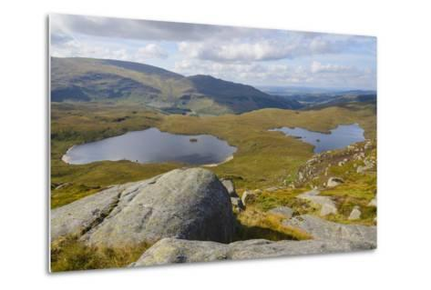 View over the Glenhead Lochs from Rig of the Jarkness-Gary Cook-Metal Print