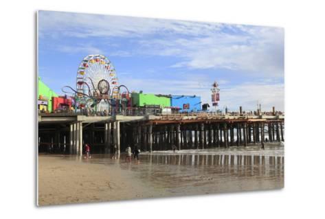 Santa Monica Pier, Pacific Park, Santa Monica, Los Angeles, California, Usa-Wendy Connett-Metal Print