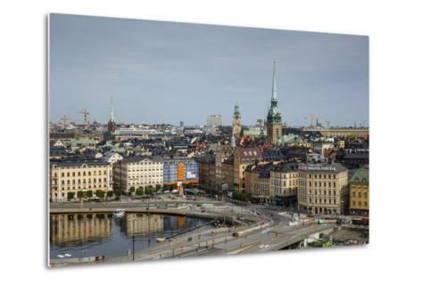 Skyline of Stockholm, Sweden, Scandinavia, Europe-Yadid Levy-Metal Print