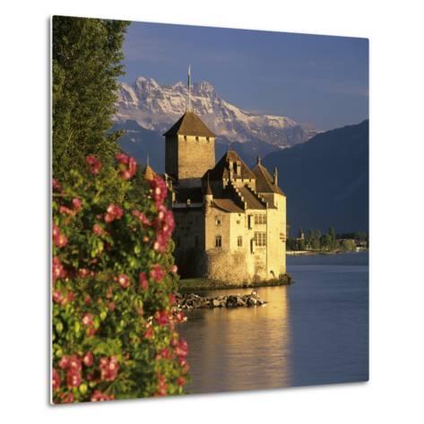 Chateau De Chillon (Chillon Castle) on Lake Geneva, Veytaux, Vaud Canton, Switzerland-Stuart Black-Metal Print