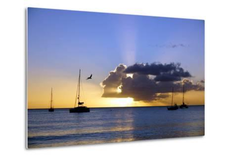 Sunset, St. Kitts and Nevis, Leeward Islands, West Indies, Caribbean, Central America-Robert Harding-Metal Print
