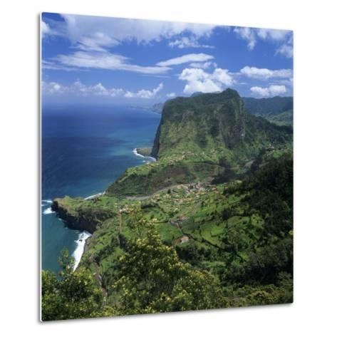 Eagle Rock (Penha De Aguia), Faial, Madeira, Portugal, Atlantic-Stuart Black-Metal Print