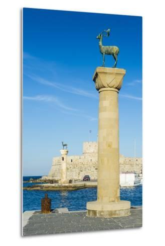 The Deer, the Medieval Old Town of the City of Rhodes, Rhodes, Dodecanese Islands, Greek Islands-Michael Runkel-Metal Print