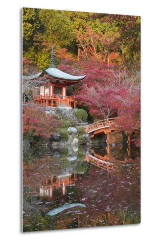 Japanese Temple Garden in Autumn, Daigoji Temple, Kyoto, Japan-Stuart Black-Metal Print