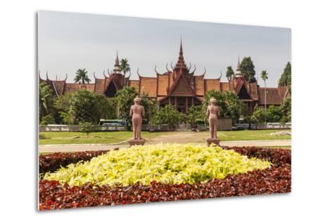 The National Museum of Cambodia in the Capital City of Phnom Penh, Cambodia, Indochina-Michael Nolan-Metal Print