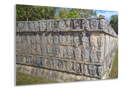 Platform of Skulls, Chichen Itza, Yucatan, Mexico, North America-Richard Maschmeyer-Metal Print