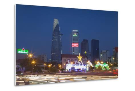 Bitexco Financial Tower at Dusk, Ho Chi Minh City, Vietnam, Indochina, Southeast Asia, Asia-Ian Trower-Metal Print