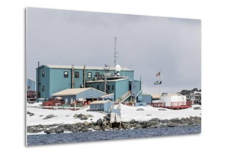 The United States Antarctic Research Base at Palmer Station, Antarctica, Polar Regions-Michael Nolan-Metal Print