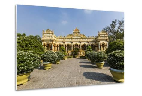 Garden Entrance to the Vinh Trang Pagoda, My Tho, Vietnam, Indochina, Southeast Asia, Asia-Michael Nolan-Metal Print