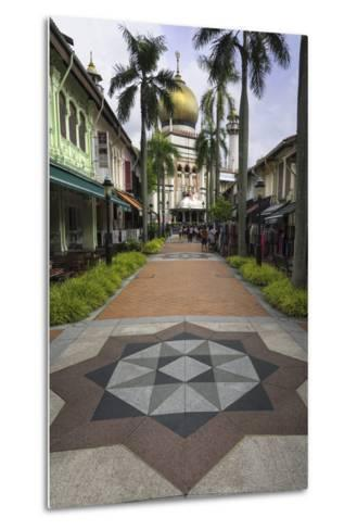Road Leading to the Sultan Mosque in the Arab Quarter, Singapore, Southeast Asia, Asia-John Woodworth-Metal Print