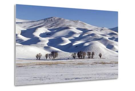 A Snow-Covered Winter Landscape in the Alborz Mountains of Iran-Babak Tafreshi-Metal Print