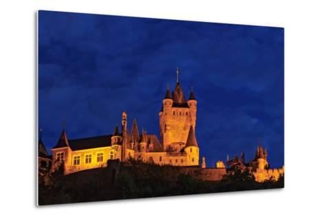 Exterior of the Imperial Castle of Cochem at Night-Babak Tafreshi-Metal Print