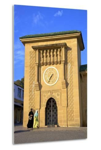 Clock Tower in Grand Socco, Tangier, Morocco, North Africa, Africa-Neil Farrin-Metal Print