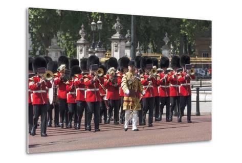 Guards Military Band Marching Past Buckingham Palace En Route to the Trooping of the Colour-James Emmerson-Metal Print