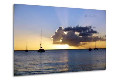 Sunset, St. Kitts and Nevis, Leeward Islands, West Indies, Caribbean, Central America-Robert Harding-Metal Print