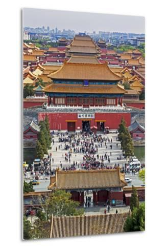 The Forbidden City in Beijing Looking South Taken from the Viewing Point of Jingshan Park-Gavin Hellier-Metal Print