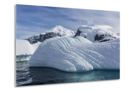 Glacial Iceberg Detail at Cuverville Island, Antarctica, Polar Regions-Michael Nolan-Metal Print