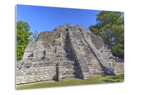 Temple I, Chaccoben, Mayan Archaeological Site-Richard Maschmeyer-Metal Print