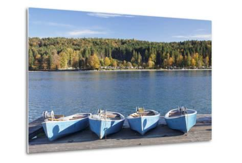 Boat Hire, Walchensee Village, Walchensee Lake, Bavarian Alps, Upper Bavaria, Bavaria, Germany-Markus Lange-Metal Print