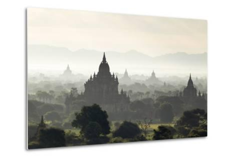 North and South Guni Temples Pagodas and Stupas in Early Morning Mist at Sunrise-Stephen Studd-Metal Print