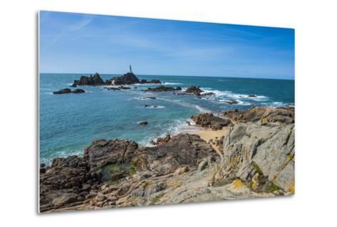 La Corbiere Lighthouse, Jersey, Channel Islands, United Kingdom-Michael Runkel-Metal Print