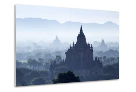 North Guni Temple, Pagodas and Stupas in Early Morning Mist at Sunrise, Bagan (Pagan)-Stephen Studd-Metal Print
