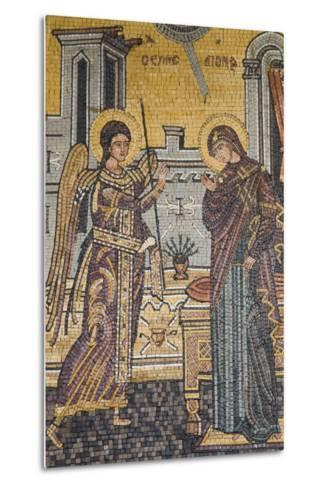 Mosaics on the Wall of St. George's Church, Madaba, Jordan, Middle East-Richard Maschmeyer-Metal Print
