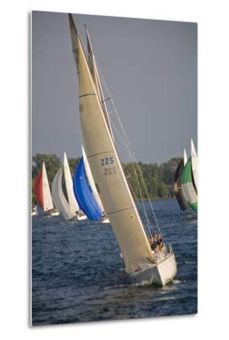 A Sailboat Race in Toronto Harbour Area-Tim Thompson-Metal Print