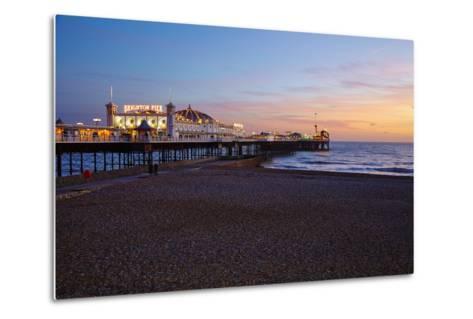 Brighton Pier, Brighton, Sussex, England, United Kingdom, Europe-Mark Mawson-Metal Print