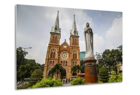 Notre Dame Cathedral, Ho Chi Minh City (Saigon), Vietnam, Indochina, Southeast Asia, Asia-Yadid Levy-Metal Print