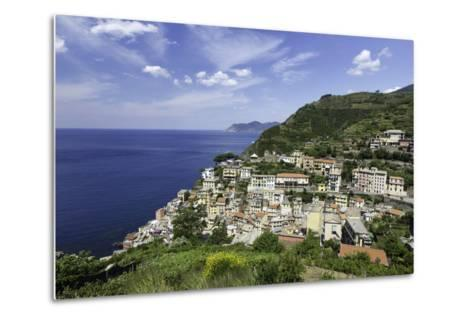 Clifftop Village of Riomaggiore, Cinque Terre, UNESCO World Heritage Site, Liguria, Italy, Europe-Gavin Hellier-Metal Print