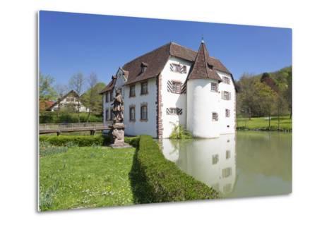 Wasserschloss Inzlingen Water Castle, Markgraefler Land, Black Forest, Baden- Wurttemberg, Germany-Markus Lange-Metal Print
