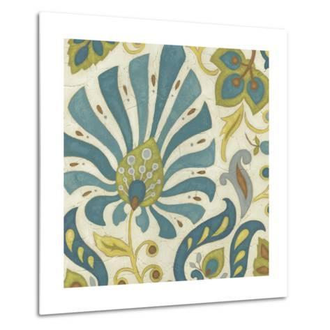 Peacock Paisley I-June Erica Vess-Metal Print