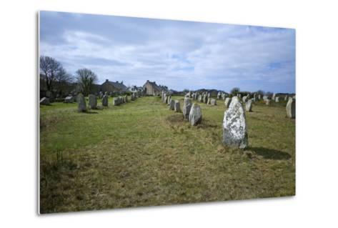 Megalithic Stones in the Menec Alignment at Carnac, Brittany, France, Europe-Rob Cousins-Metal Print