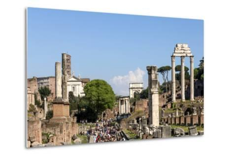 Roman Forum with Temple of Vesta-James Emmerson-Metal Print