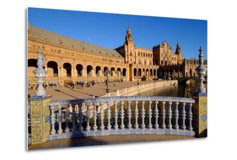 Plaza De Espana, Built for the Ibero-American Exposition of 1929, Seville, Andalucia, Spain-Carlo Morucchio-Metal Print
