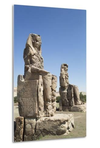 Colossi of Memnon, West Bank, Thebes, Egypt, North Africa, Africa-Richard Maschmeyer-Metal Print