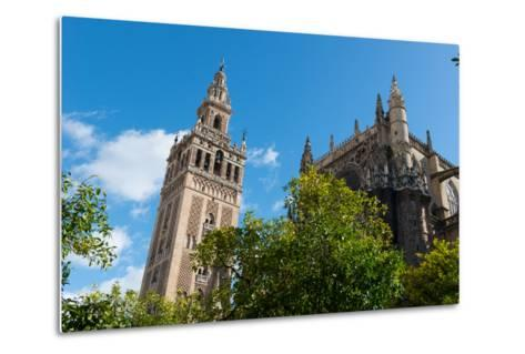Sevilla Cathedral and Giralda, Seville, Andalucia, Spain-Carlo Morucchio-Metal Print
