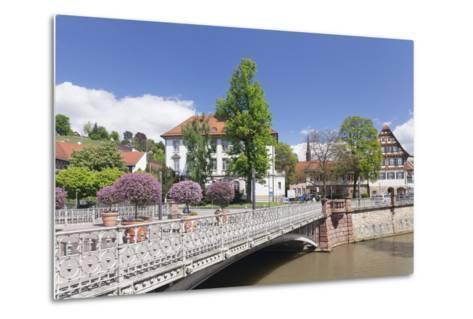 View over Wehrneckarkanal Chanel to Schwoerhaus House-Markus Lange-Metal Print