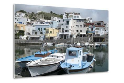 Fishing Boats at Borgo Sant' Angelo, Ischia, Campania, Italy, Europe-Oliviero Olivieri-Metal Print