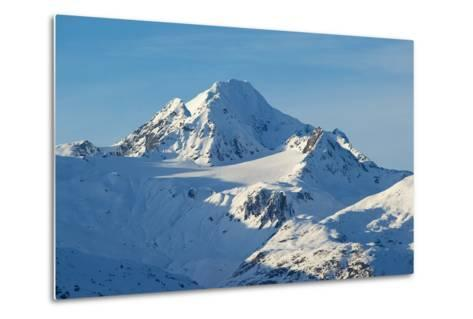 A Scenic View of Jagged, Snow-Covered Peaks in the Chilkat Range-Bob Smith-Metal Print