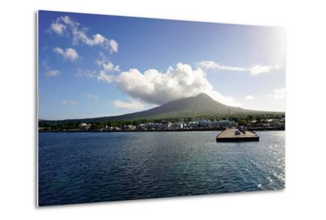 Charlestown with Mount Nevis in Background-Robert Harding-Metal Print