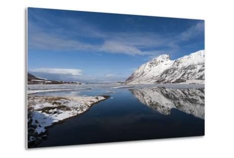 Knutstad, Lofoten Islands, Arctic, Norway, Scandinavia-Sergio Pitamitz-Metal Print