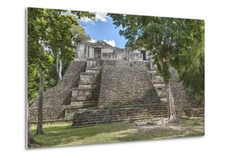 Structure 6, Kohunlich, Mayan Archaeological Site, Quintana Roo, Mexico, North America-Richard Maschmeyer-Metal Print